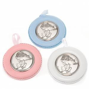 Round cradle decoration, Our Lady and baby Jesus s1