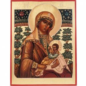 Russian hand-painted icons: Russian icon of the Virgin Mary breastfeeding Jesus