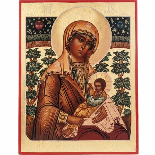 Russian icon of the Virgin Mary breastfeeding Jesus 1