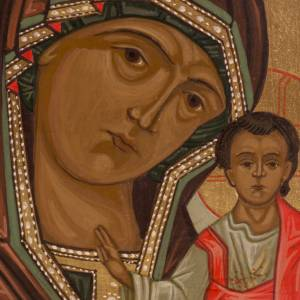 Russian icon, Our Lady of Kazan 20x15cm s2