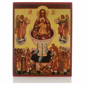 Russian icon, Our Lady Source of Life s1