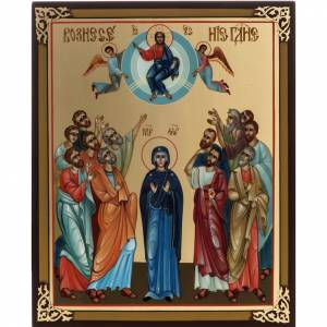 Russian hand-painted icons: Russian painted icon, Ascension 27x22cm