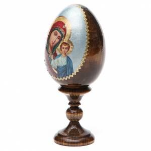 Handgemalte Russische Eier: Russische Ei-Ikone Gottesmutter von Kasan Decoupage 13cm