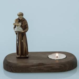 Support bougies: S.Antoine de Padova avec lampe votive