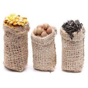 Miniature food: Sacks with greens 3 pcs