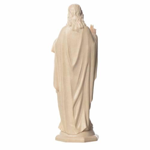 Sacré Coeur de Jésus bois Valgardena naturel ciré s2
