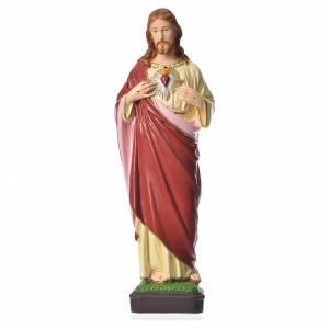 Sacré Coeur Jésus 40 cm matériel incassable s1