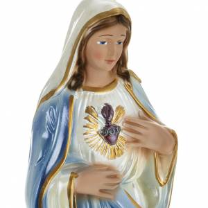 Sacred Heart of Mary statue in plaster, 30 cm s2