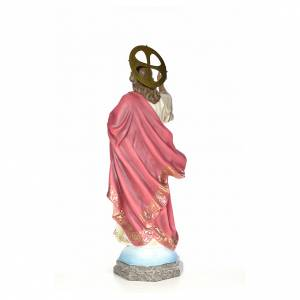 Sacro Cuore di Gesù 100 cm pasta di legno dec. elegante s3