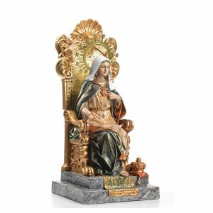 Sacro Cuore di Maria trono 40 cm pasta legno dec. superiore s4