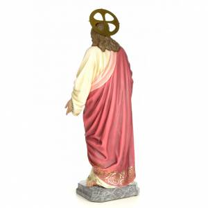 Sacro Cuore Gesù 120 cm pasta di legno dec. elegante s3