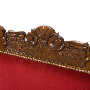 Poltrona barocca sagrestia legno noce velluto s2