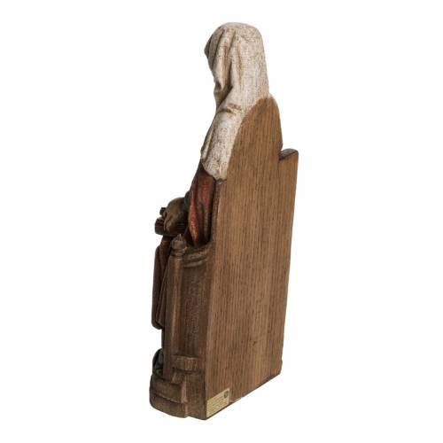 Saint Anne, young Virgin Mary statue in painted Bethléem wood, s4