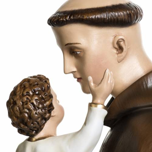 Saint Anthony of Padua, 100 cm painted fiberglass statue s9