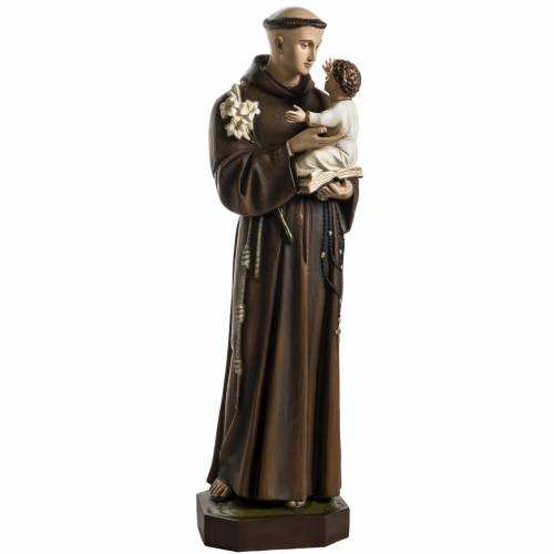 Saint Anthony of Padua, 100 cm painted fiberglass statue s1