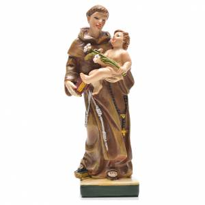 Holy Statues in resin & PVC: Saint Anthony of Padua 12cm with Italian prayer