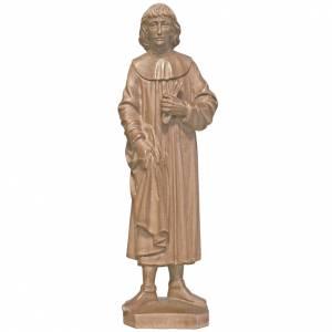 Saint Cosmas 25cm in patinated Valgardena wood s1