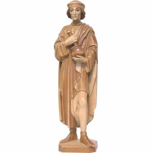 Saint Damien with mortar 25cm in multi-patinated Valgardena wood s1