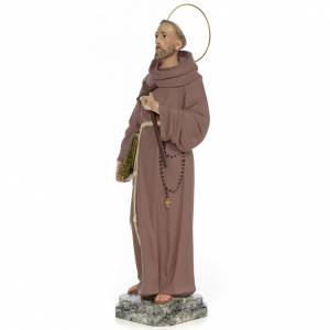 Hand painted wooden statues: Saint Francis of Assisi 50cm, wood paste, fine decoration