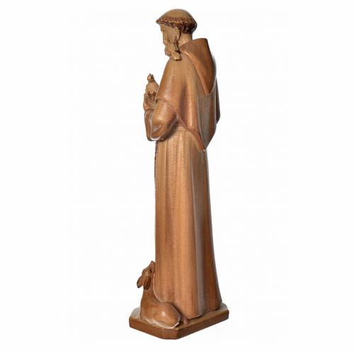 Saint Francis of Assisi statue in multi-patinated Valgardena woo s3