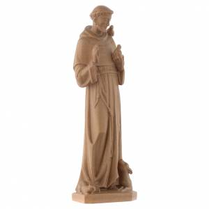 Saint Francis of Assisi statue in patinated Valgardena wood s2