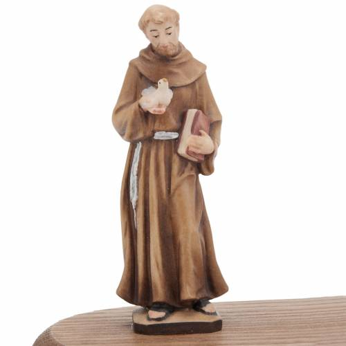 Saint Francis of Assisi with votive candle s3