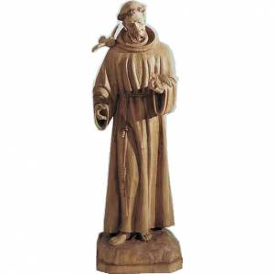 Saint Francis statue in painted wood, 65cm s1