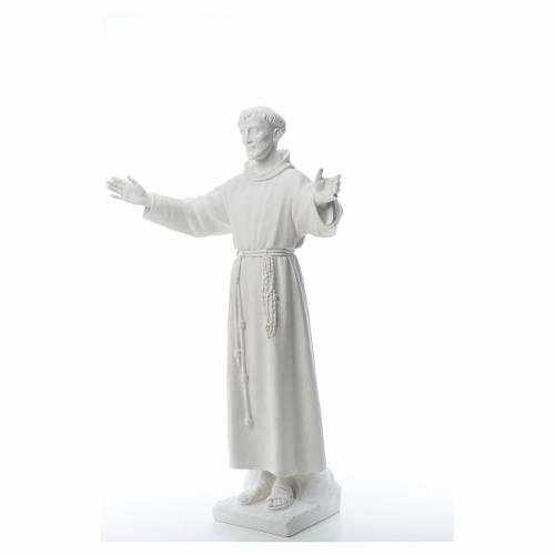 Saint Francis with open arms, 100 cm reconstituted marble statue s2