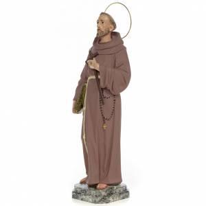 Saint François d'Assise 50 cm fin. simple pâte à bois s2