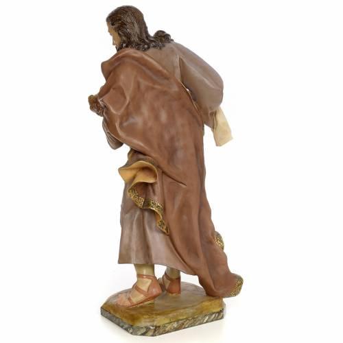 Saint Joseph and baby, 80cm wood paste, antique decoration s3
