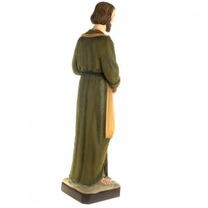 Saint Joseph the Carpenter statue, 80 cm in painted marble dust s7