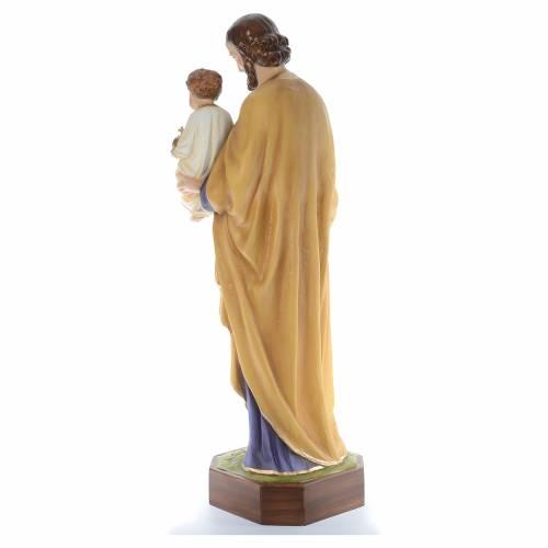 Saint Joseph with Baby Jesus, statue in painted fiberglass, 130c s3