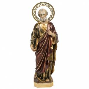 Saint Peter statue 60cm in wood paste, extra finish s1