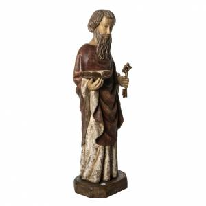 Saint Peter statue, 80cm in painted wood, Bethléem s2