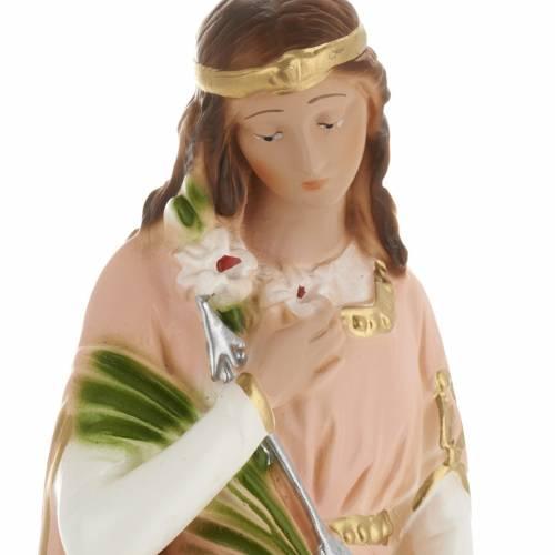 Saint Philomena statue in plaster, 30 cm s2