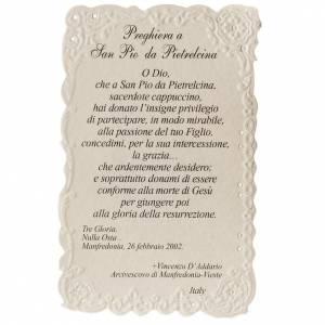 Saint Pio of Pietralcina holy card with prayer s2