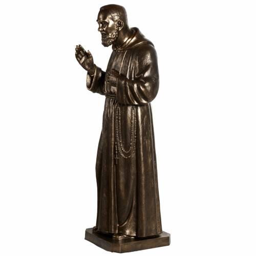 Saint Pio statue in fiberglass, bronze color 175 cm s12