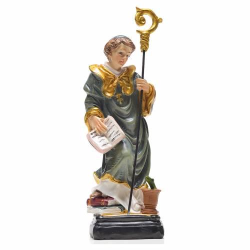 San Benito 12cm con imagen y oración en Francés s1