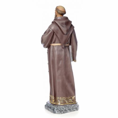 San Francesco d'Assisi 100 cm pasta di legno dec. elegante s3