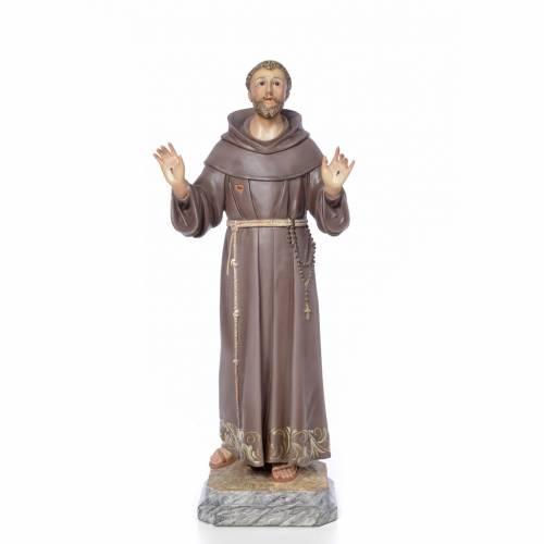 San Francesco d'Assisi 80 cm pasta di legno dec. elegante s1
