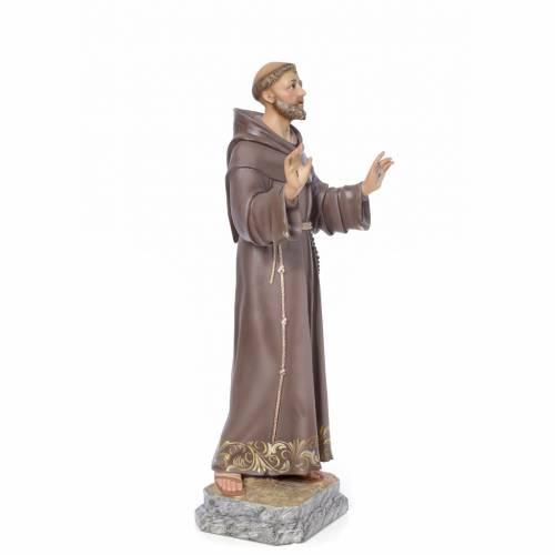 San Francesco d'Assisi 80 cm pasta di legno dec. elegante s2
