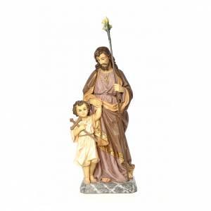 San Giuseppe 100 cm pasta di legno dec. elegante s1