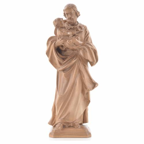 San Giuseppe di Guido Reni legno Valgardena patinato s1
