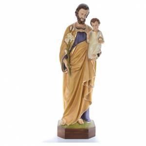 Statue in Vetroresina: San Giuseppe lavoratore con bimbo 130 cm fiberglass