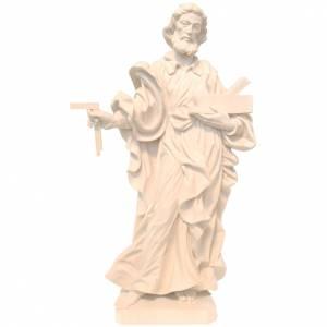 San Giuseppe lavoratore legno Valgardena naturale cerato s1
