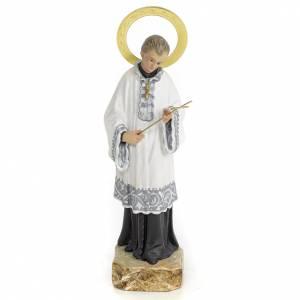 San Luigi Gonzaga 20 cm pasta di legno dec. elegante s1