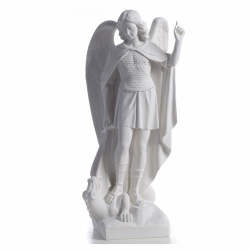 San Miguel Arcángel mármol blanco 60 cm s1