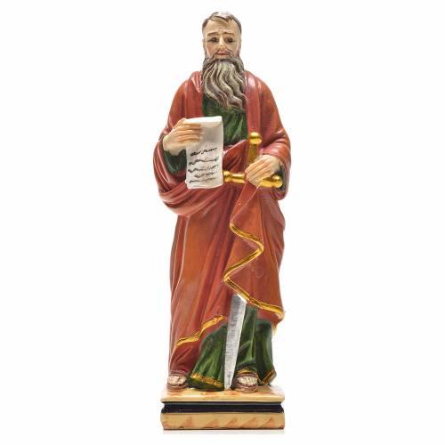 San Pablo 12cm con imagen y oración en Ingles s1