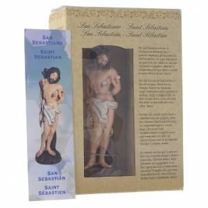 San Sebastiano 12 cm pvc confezione PREGHIERA MULTILINGUE s3