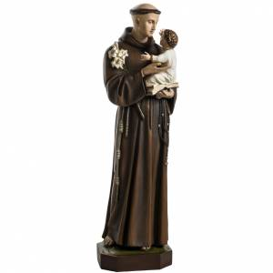 Statue in Vetroresina: Sant'Antonio da Padova 100 cm fibra di vetro colorata